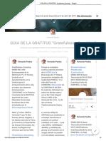 """GUIA DE LA GRATITUD """"Gratefulness Coaching"""" - Google+ Fernando Pardos (Completo 15-2-2019)"""