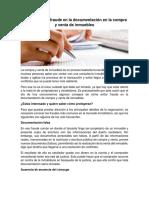 Cómo Evitar El Fraude en La Documentación en La Compra y Venta de Inmuebles