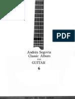 A.segovia - Classic Album for Guitar Vol.06 - Ongaku No Tomo Edition