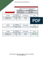 Relatario Calibradores - Decon Os 6082