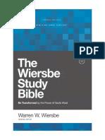 The Wiersbe Study Bible Sampler