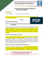 1.LEY 29664 Ley Que Crea El Sistema Nacional de Gestión Del Riesgo de Desastres y Ley 30 (1)