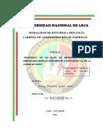 MODALIDAD DE ESTUDIOS A DISTANCIA CARRERA DE ADMINISTRACIÓN DE EMPRESAS