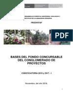 PRODEFAP Bases Fondo Concursable Conglomerado