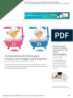 A Importância Da Rotina Para Criança Com Imagens Para Imprimir - Blog PsiquEasy