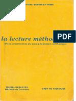 Descotes _ La Lecture Méthodique _ CRDP Toulouse1989