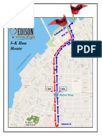 2019 Edison Festival of Light 5K Run Route