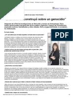 El Estado Se Construyó Sobre Un Genocidio Página 12