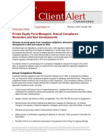 LW Private Equity Fund Managers Compliance Reminders and Developments