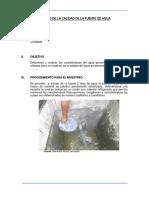 Estudio de La Calidada de Fuente de Agua
