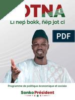 Ousmane Sonko - Programme Presidentielles 2019 - Jotna