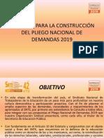 Consulta Para La Construcción Del Pliego Nacional De