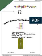 Sieve Analysis - Set 2