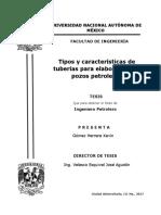 TESIS Tipos y Características de Tuberías Para Elaboración de Pozos Petroleros