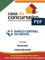 Apostila Bacen Analista Economia Carlos Decotelli