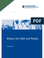 Bribery Act- Myth and Reality
