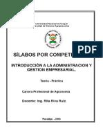 Sylabo Por Competencia_Introduccion a La Adm y Gest.emp_agronomia_2016