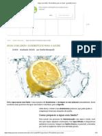 Água Com Limão_ 10 Benefícios Para a Saúde