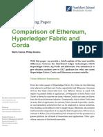 2017 Comparison of Ethereum Hyperledger Corda