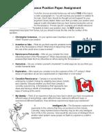 renaissance position paper assignment