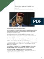 Gosarkari.com-Himachal Pradesh Budget 2019-20 for HPAS and Other HP Govt Exams