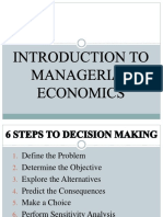 Intro to Economic Decision Making