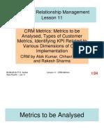 CRM - Lesson 11 - CRM Metrics[4186]