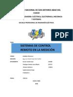 informe de sistemas de control electrico