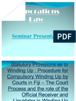 Statutory Provisions as to Winding Up