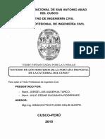 Estudio de Morteros de La POrtada de La Catedral de Cusco
