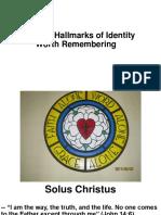 Hallmarks of Lutheran Identity 20171029