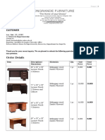 Quotation for Office Table