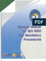 Generic Manual on ISO 9001 Six Mandatory Procedures