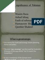 Geostrategic Significance
