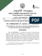Andhra Minimum Wages - 1st October 2018