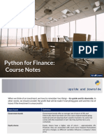 Udemy Python Financial Analysis Slides