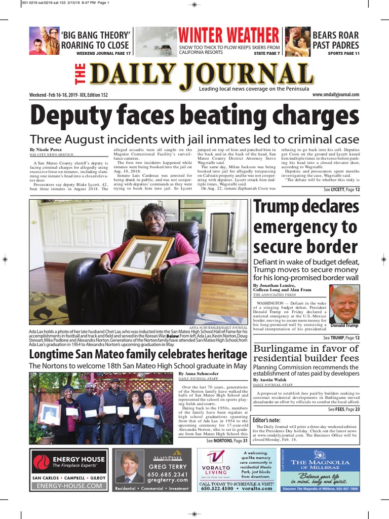 San Mateo Daily Journal 02-16-19 Edition | Millbrae | Toll Road
