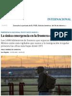 La Única Emergencia en La Frontera Es Trump _ Internacional _ EL PAÍS