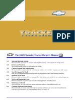 2002 Chevrolet Tracker Manual en CA