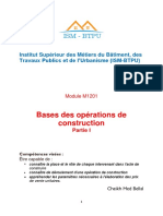Bases Des Operations de Construction
