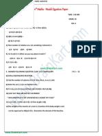 11th Maths - Model Question Paper - TamilNadu TN State Board English Medium - Brainkart.com