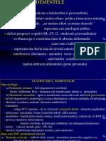 Dementa  Alzheimer-tabloul cinic dg.+