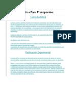 Fisica Cuántica Para Principiantes.docx