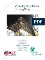 Hong Kong light polution