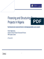 Financing and Structuring Power Projects in Nigeria