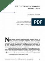 Borges, o eterno caçador de vagalumes - Lúcia
