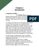 US Dollar Store Consumer Behaviour