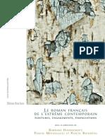 Le Roman français de l'extrême contemporain. Ecritures, engagements, énonciations