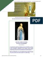 El Camino de Maria . Edicion 1229. Virgen de Lourdes, Salud de Los Enfermos . XXVII Jornada Mundial Del Enfermo. 11 de Febrero
