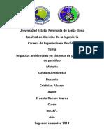 Impactos Ambientales Por Producion de Hidrocarburos